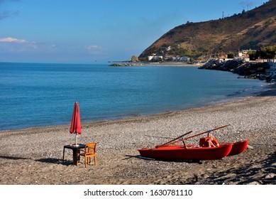 beach of Amantea Calabria Italy
