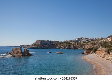 the beach of Amopi on the island of Karpathos, Greece