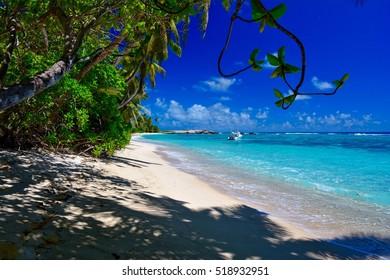 Beach Anse Forbans, Mahe, Seychelles