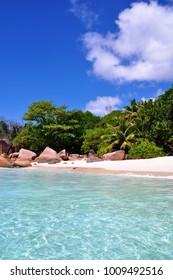 Beach Anse Lazio, Praslin Island, Seychelles
