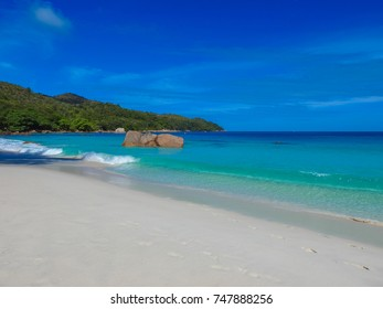 Beach Anse Lazio. Praslin island nature. Seychelles. Eastern Africa