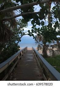 Beach approach after the rain