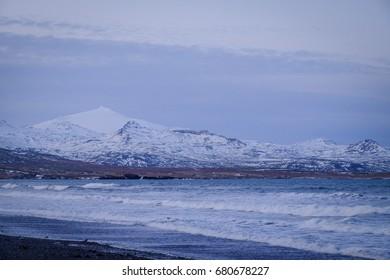 Beach area in snaefellsjokull national park