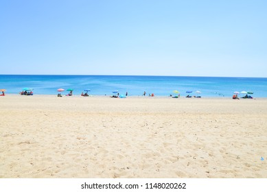 Beach background in a sunny day