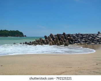 beach background tambak indonesia