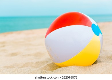 Beach Ball, Beach, Ball.