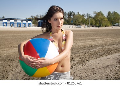 Beach Ball Girl