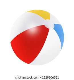 Beach ball isolated on a white background with clipping path