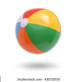 Beach ball isolated on white