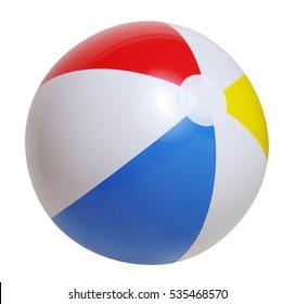 Plážový míč izolovaný na bílém pozadí