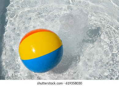 Beach ball splash
