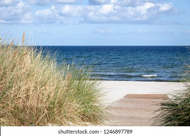 Beach of the Baltic Sea near Scharbeutz, Germany