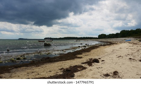 Beach at the baltic sea on a cloudy day in Mecklenburg-Western Pomerania