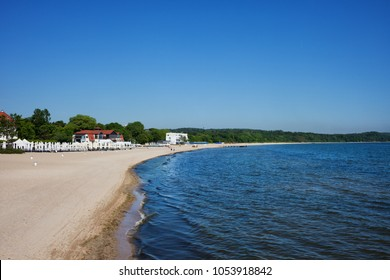 Beach at the Baltic Sea in resort city of Sopot in Poland