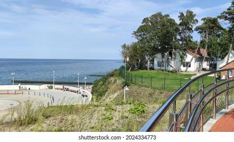 The beach of Baltic sea in Svetlogorsk