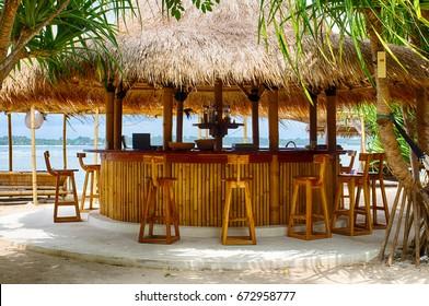 Beach bar, beach, Indian ocean, Indonesia, Island of GILI air.