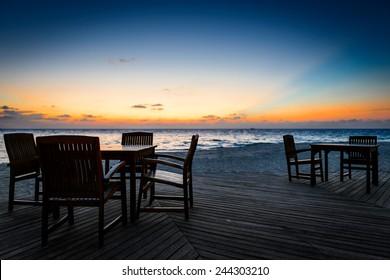 Beach Bar Sunset
