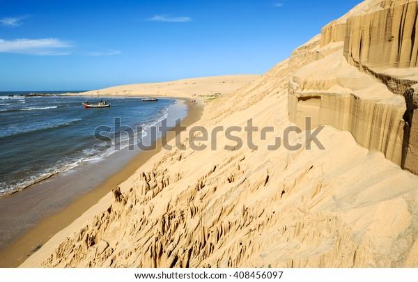 The beach of Barra de Valizas in Uruguay