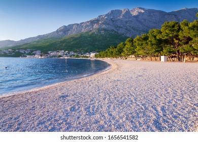 beach in Baska Voda. Adriatic sea - Shutterstock ID 1656541582
