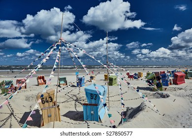 beach baskets on Langeoog, Germany