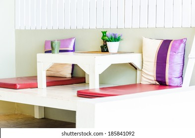 Beach bed and pillow