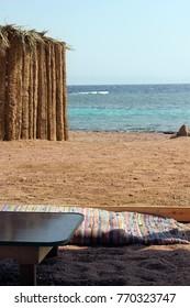 A beach Bedouin sitting style, Red Sea, Dahab, Sinai, Egypt