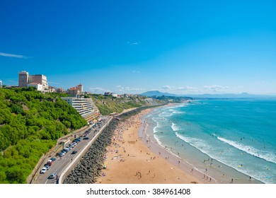 Beach in Biarritz, Pays Basque, France