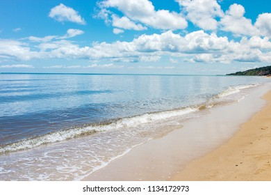 Beach of the Black Sea in Sinemorets, Bulgaria.View of coast near Sinemorets in Bulgaria.