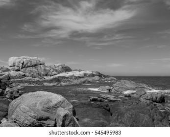 Beach in Black and White   Santa Catarina