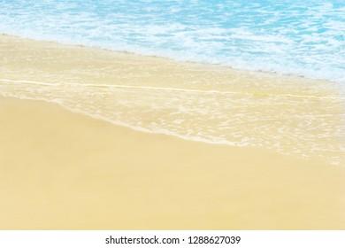 Beach and blue ocean background