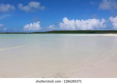 Beach and blue sea, Long Island, Bahamas