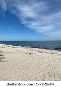Beach, blue sky and horizon. - Shutterstock ID 1992526844
