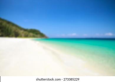 Beach blur background, blured filter effect.