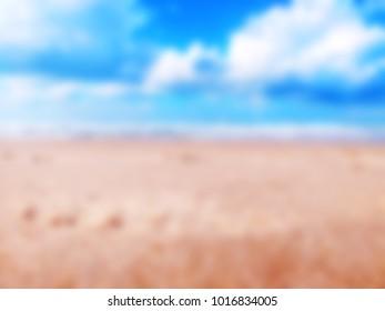Beach blur background, blurred filter effect. Blurred background