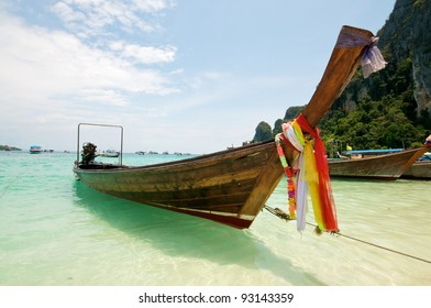 Beach Boat in Thailand Vacation