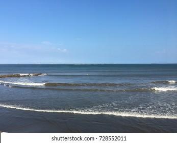 Beach of Boca del Rio, (Mouth river) Veracruz, Mexico