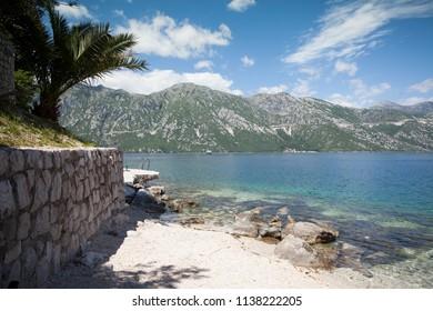 Beach in Boka Kotorska bay