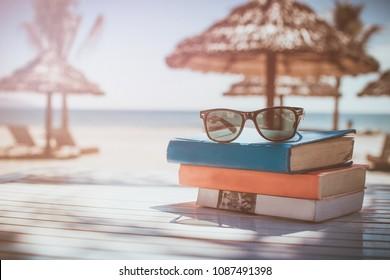 Beach books sunglasses