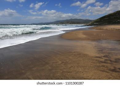 The Beach at Bosa, Sardinia, Italy