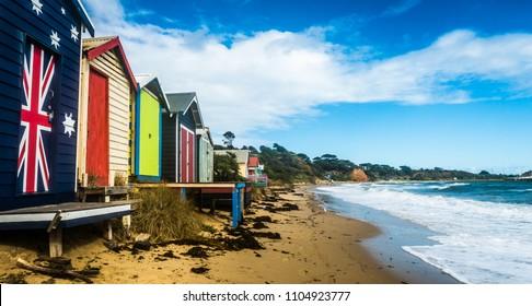 Beach boxes at Schnapper Point, Mornington