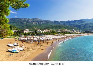 Beach in Budva, Montenegro