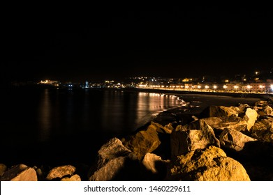 Beach by night at ElKala, ElTarf, Algeria