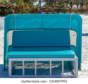 Beach cabana lounge seat for two in Florida
