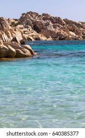 Beach of Cala Coticcio on Caprera island, Sardinia, Italy