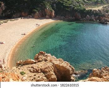 Beach Cala Li Cossi in Costa Paradiso. Sardinia, Italy