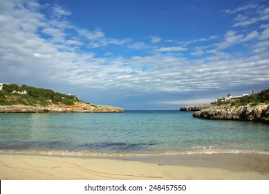 Beach of Cala Marsal in Majorca (Spain)