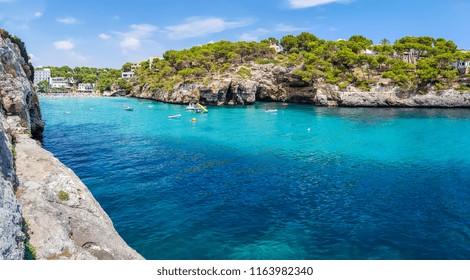Beach of Cala Santanyi in Mallorca