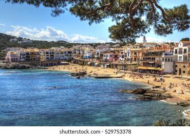 Beach of Calella de Palafrugell. Costa Brava. Girona Spain