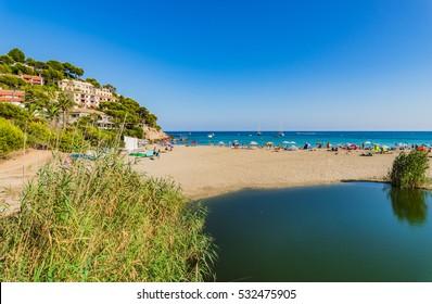 Beach of Canyamel, Majorca Spain, Mediterranean Sea Island.