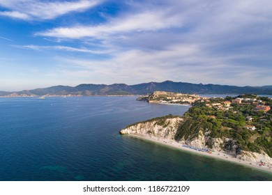Beach of Capo Bianco, Elba island in Italy